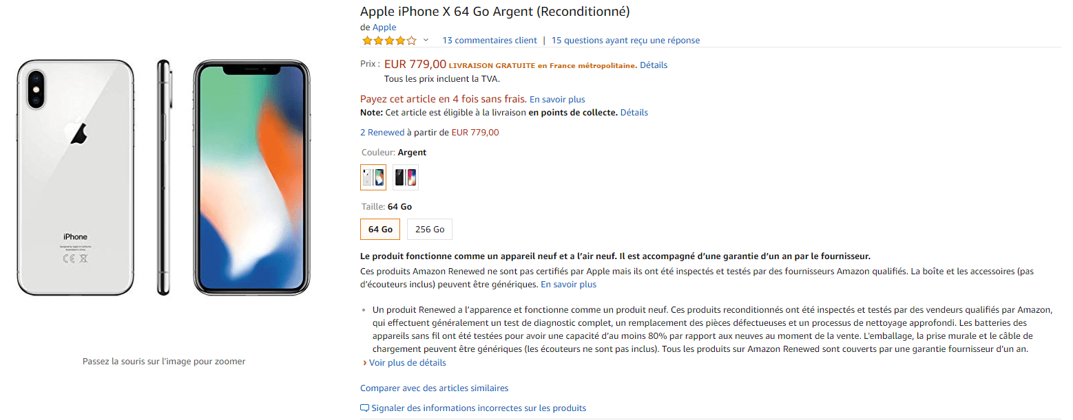 iphone xr reconditionne amazon
