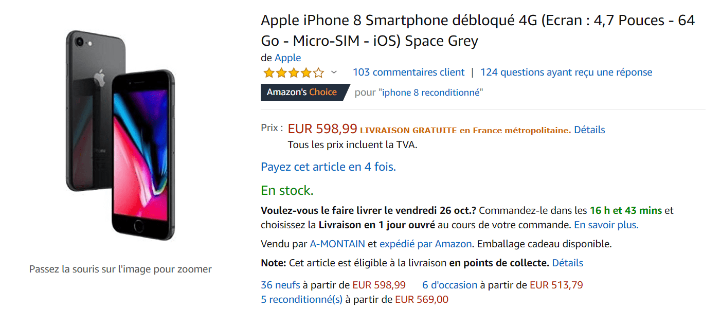 smartphone reconditionné avis