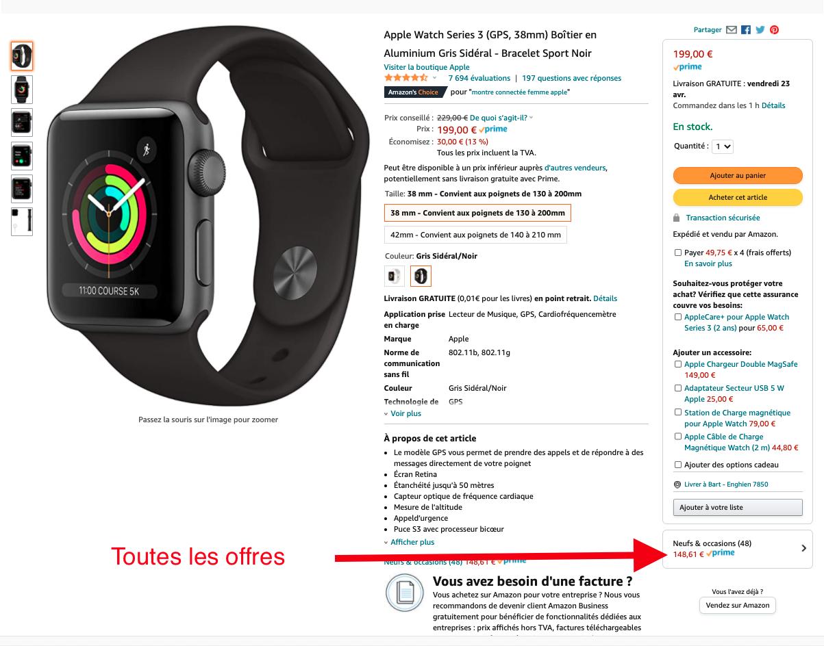 apple watch Series 3 recondtionnée