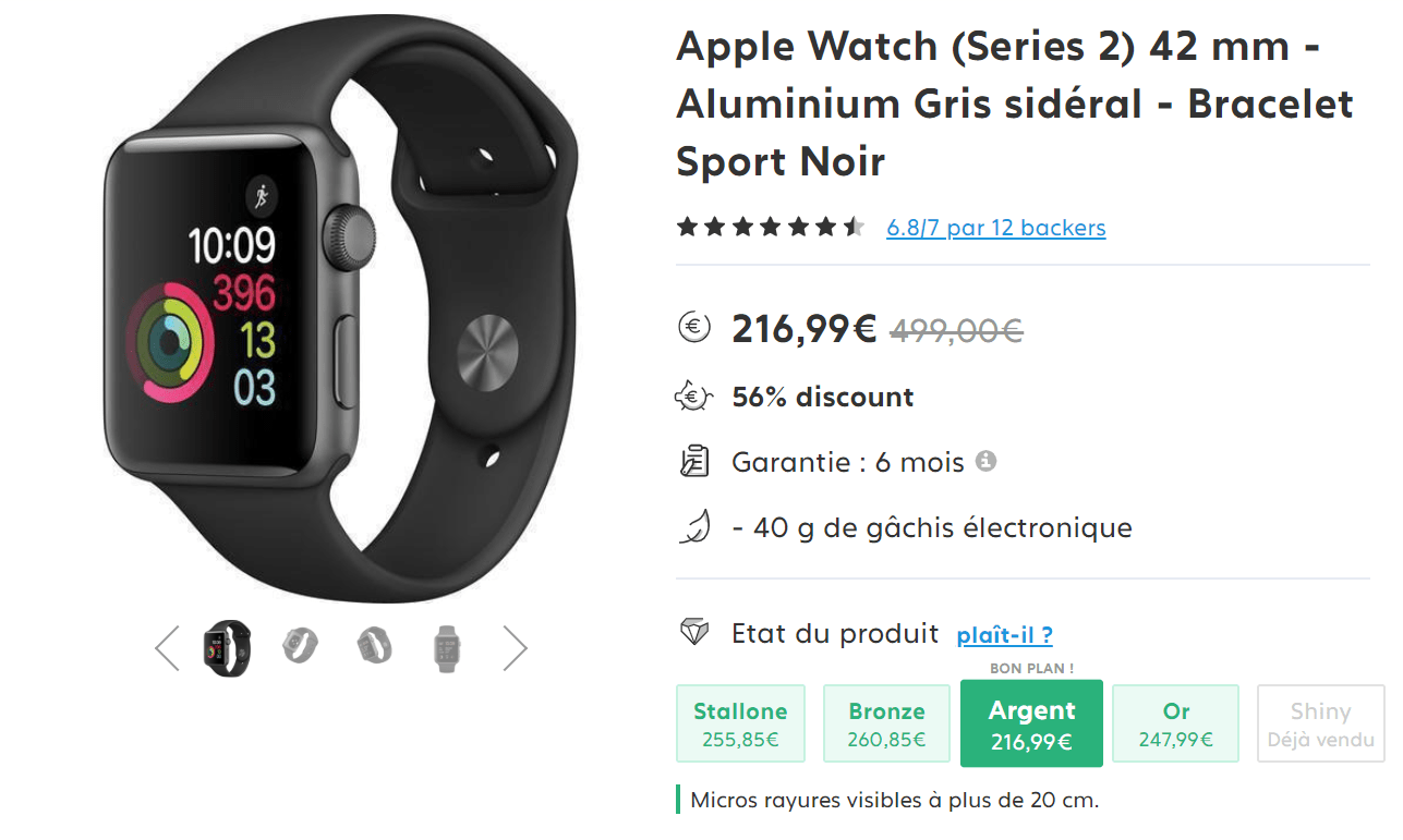 apple watch reconditionnée avis
